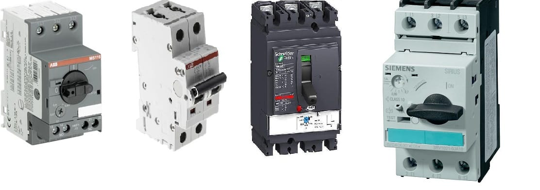 Difference between MCB, MCCB, RCCB, RCBO and Isolator
