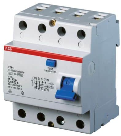 RCCB - Residual Current Circuit Breaker/Residual current device