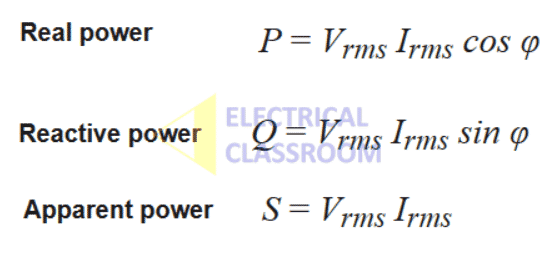 AC power formulae
