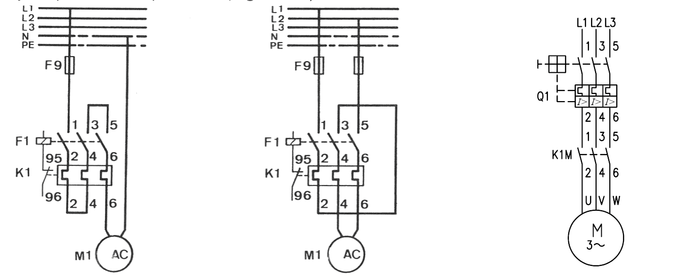 DOL starter with overload relay