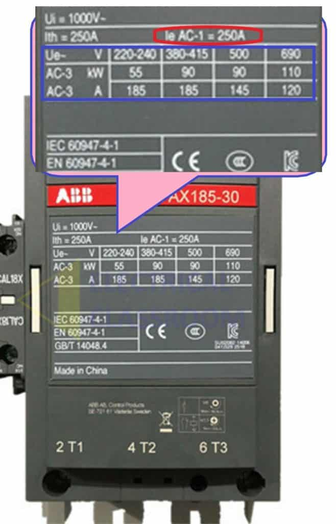 difference between AC-1 duty and AC-3 duty contactor