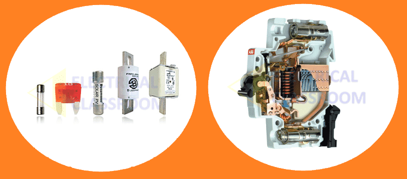 Difference between fuses and circuit breakers