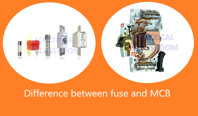 Difference between fuse and MCB