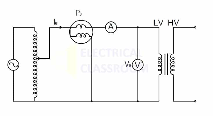 Transformer Open circuit test circuit