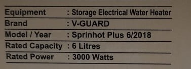 Power consumption & energy usage of water heater