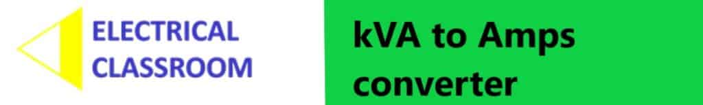 kVA to amps converter