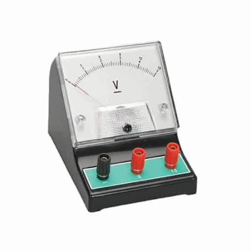 Voltmeter used to measure electric potential difference or voltage
