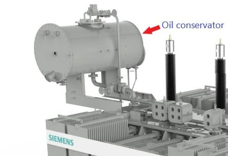 Parts of a transformer: Oil conservator