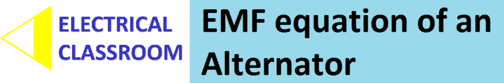 EMF equation of an alternator