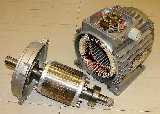 Parts of a motor: Stator and rotor
