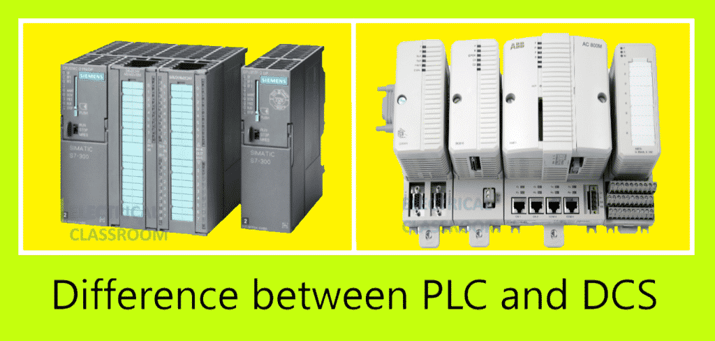 Difference between PLC and DCS